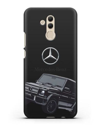 Чехол с картинкой Мерседес Гелендваген силикон черный для Huawei Mate 20 Lite