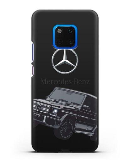 Чехол с картинкой Мерседес Гелендваген силикон черный для Huawei Mate 20 Pro