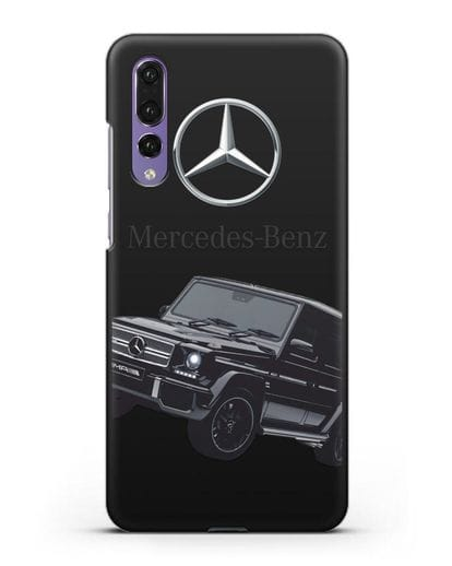 Чехол с картинкой Мерседес Гелендваген силикон черный для Huawei P20 Pro