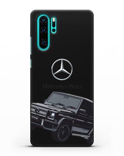 Чехол с картинкой Мерседес Гелендваген силикон черный для Huawei P30 Pro