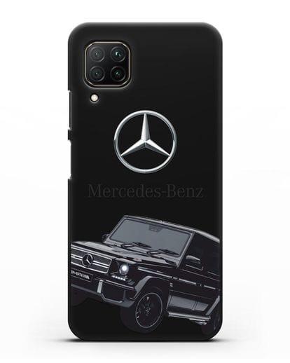Чехол с картинкой Мерседес Гелендваген силикон черный для Huawei P40 lite