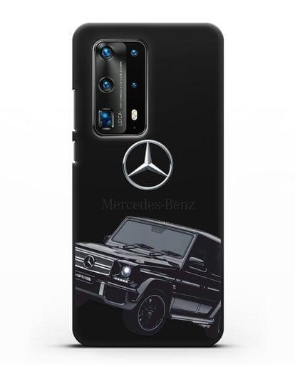 Чехол с картинкой Мерседес Гелендваген силикон черный для Huawei P40 Pro