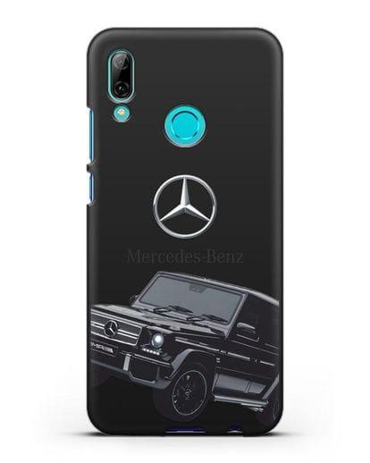Чехол с картинкой Мерседес Гелендваген силикон черный для Huawei P Smart 2019