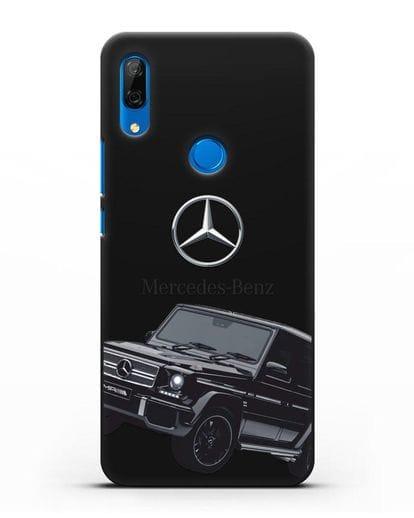 Чехол с картинкой Мерседес Гелендваген силикон черный для Huawei P Smart Z