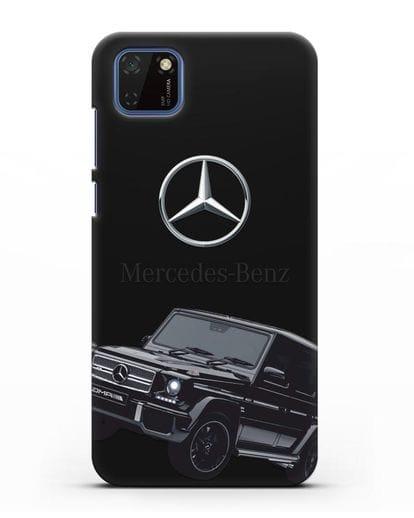 Чехол с картинкой Мерседес Гелендваген силикон черный для Huawei Y5P