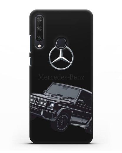 Чехол с картинкой Мерседес Гелендваген силикон черный для Huawei Y6P