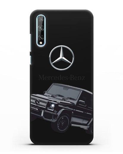 Чехол с картинкой Мерседес Гелендваген силикон черный для Huawei Y8P