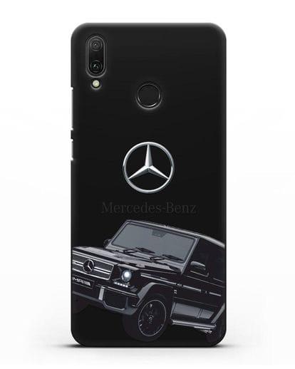 Чехол с картинкой Мерседес Гелендваген силикон черный для Huawei Y9 2019