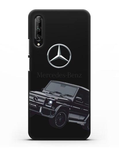 Чехол с картинкой Мерседес Гелендваген силикон черный для Huawei Y9s