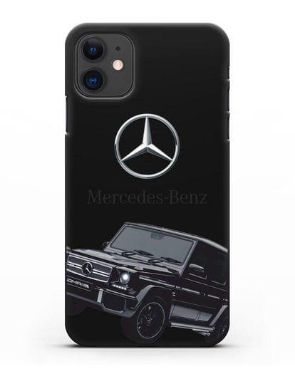 Чехол с картинкой Мерседес Гелендваген силикон черный для iPhone 11