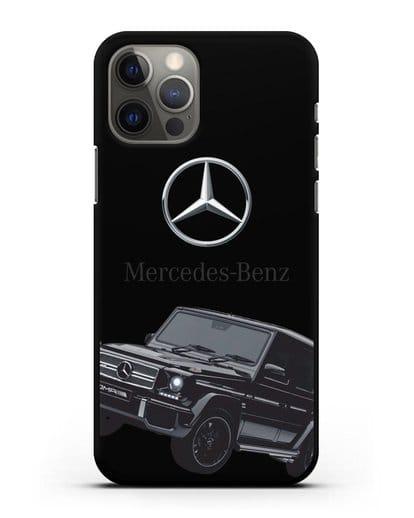 Чехол с картинкой Мерседес Гелендваген силикон черный для iPhone 12 Pro