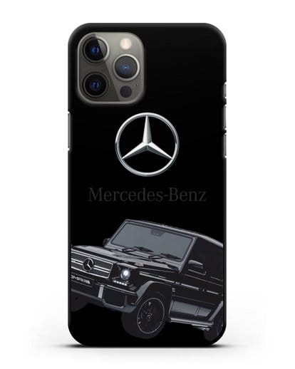 Чехол с картинкой Мерседес Гелендваген силикон черный для iPhone 12 Pro Max
