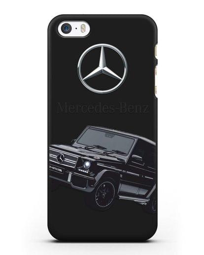 Чехол с картинкой Мерседес Гелендваген силикон черный для iPhone 5/5s/SE