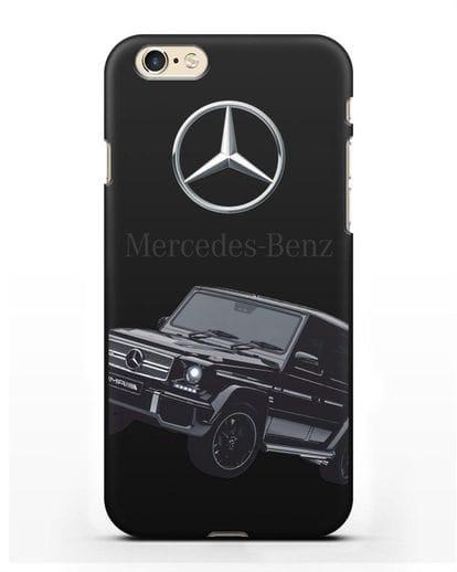 Чехол с картинкой Мерседес Гелендваген силикон черный для iPhone 6