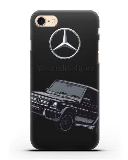 Чехол с картинкой Мерседес Гелендваген силикон черный для iPhone 8