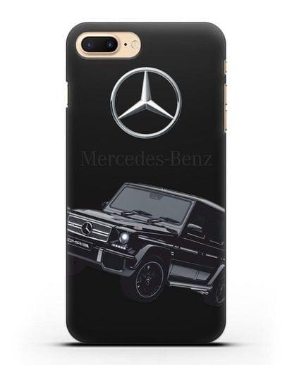 Чехол с картинкой Мерседес Гелендваген силикон черный для iPhone 7 Plus
