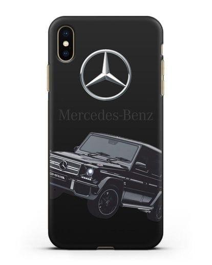 Чехол с картинкой Мерседес Гелендваген силикон черный для iPhone XS Max
