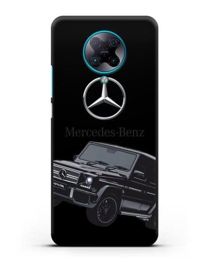 Чехол с картинкой Мерседес Гелендваген силикон черный для Xiaomi Poco F2 Pro
