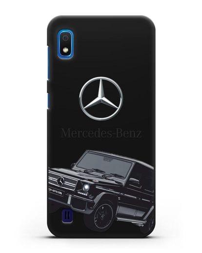 Чехол с картинкой Мерседес Гелендваген силикон черный для Samsung Galaxy A10 [SM-A105F]
