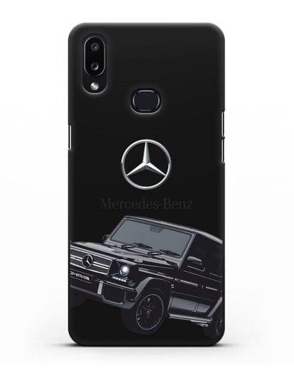 Чехол с картинкой Мерседес Гелендваген силикон черный для Samsung Galaxy A10s [SM-F107F]