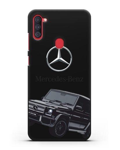 Чехол с картинкой Мерседес Гелендваген силикон черный для Samsung Galaxy A11 [SM-A115F]