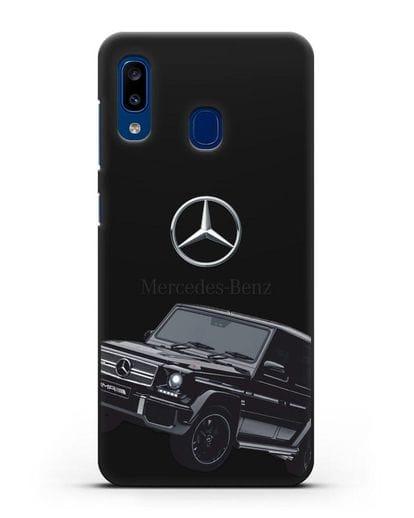 Чехол с картинкой Мерседес Гелендваген силикон черный для Samsung Galaxy A20 [SM-A205FN]