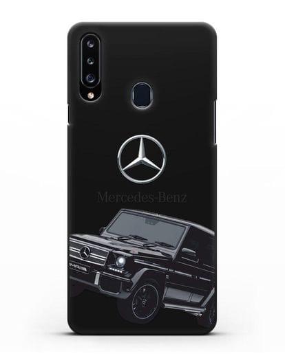 Чехол с картинкой Мерседес Гелендваген силикон черный для Samsung Galaxy A20s [SM-A207FN]