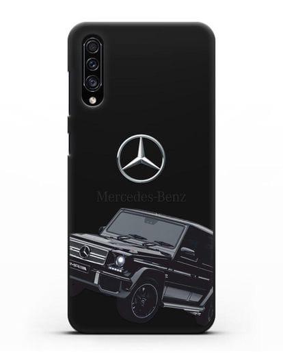 Чехол с картинкой Мерседес Гелендваген силикон черный для Samsung Galaxy A30s [SM-A307FN]