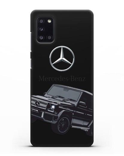 Чехол с картинкой Мерседес Гелендваген силикон черный для Samsung Galaxy A31 [SM-A315F]