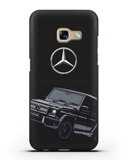 Чехол с картинкой Мерседес Гелендваген силикон черный для Samsung Galaxy A3 2017 [SM-A320F]