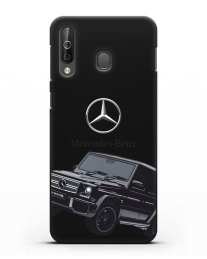 Чехол с картинкой Мерседес Гелендваген силикон черный для Samsung Galaxy A40s [SM-A507FN]