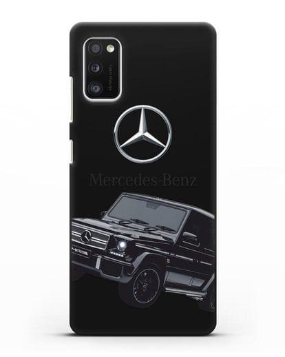 Чехол с картинкой Мерседес Гелендваген силикон черный для Samsung Galaxy A41 [SM-A415F]