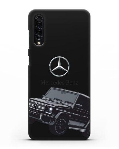 Чехол с картинкой Мерседес Гелендваген силикон черный для Samsung Galaxy A50s [SM-F507FN]