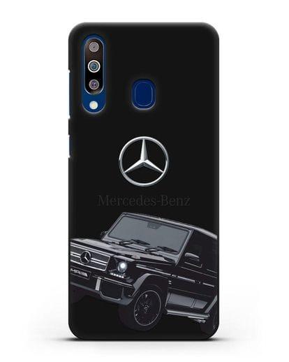 Чехол с картинкой Мерседес Гелендваген силикон черный для Samsung Galaxy A60 [SM-A606F]
