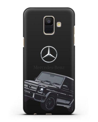 Чехол с картинкой Мерседес Гелендваген силикон черный для Samsung Galaxy A6 2018 [SM-A600F]