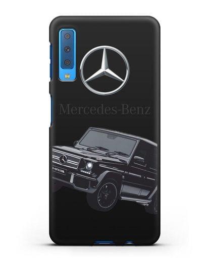 Чехол с картинкой Мерседес Гелендваген силикон черный для Samsung Galaxy A7 2018 [SM-A750F]