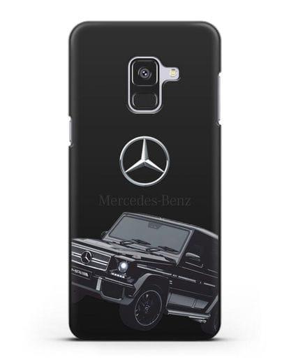 Чехол с картинкой Мерседес Гелендваген силикон черный для Samsung Galaxy A8 Plus [SM-A730F]