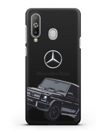 Чехол с картинкой Мерседес Гелендваген силикон черный для Samsung Galaxy A8s [SM-G8870]