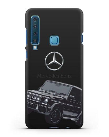 Чехол с картинкой Мерседес Гелендваген силикон черный для Samsung Galaxy A9 (2018) [SM-A920]