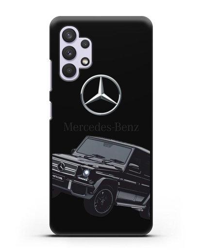 Чехол с картинкой Мерседес Гелендваген силикон черный для Samsung Galaxy A32 5G [SM-A326B]