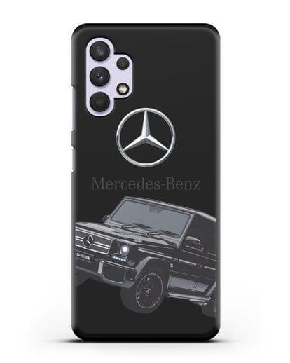 Чехол с картинкой Мерседес Гелендваген силикон черный для Samsung Galaxy A32 4G [SM-A325F]