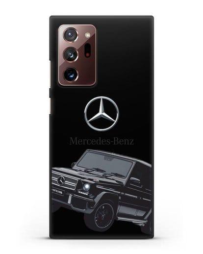 Чехол с картинкой Мерседес Гелендваген силикон черный для Samsung Galaxy Note 20 Ultra [SM-N985F]