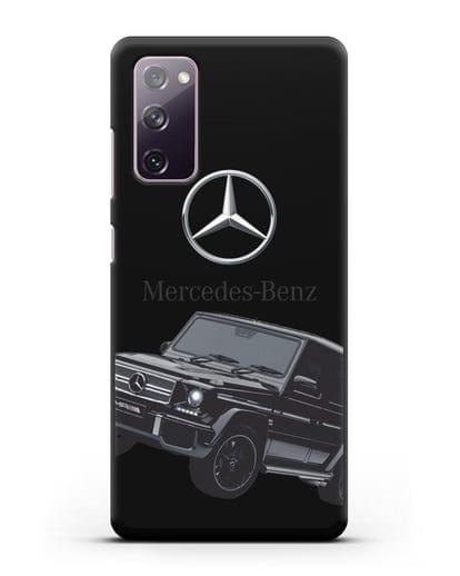 Чехол с картинкой Мерседес Гелендваген силикон черный для Samsung Galaxy S20 FE [SM-G780F]