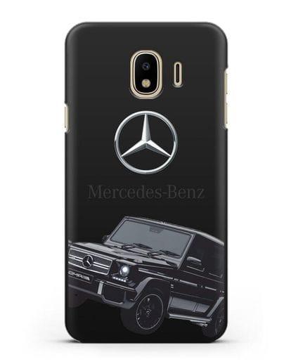 Чехол с картинкой Мерседес Гелендваген силикон черный для Samsung Galaxy J4 2018 [SM-J400F]