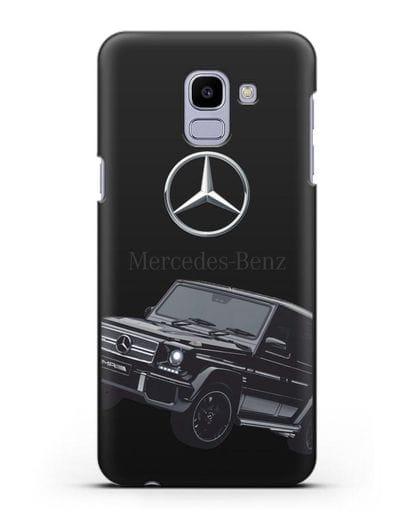 Чехол с картинкой Мерседес Гелендваген силикон черный для Samsung Galaxy J6 2018 [SM-J600F]