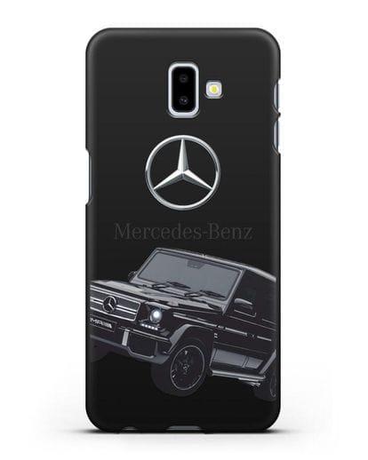 Чехол с картинкой Мерседес Гелендваген силикон черный для Samsung Galaxy J6 Plus [SM-J610F]