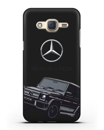 Чехол с картинкой Мерседес Гелендваген силикон черный для Samsung Galaxy J7 2015 [SM-J700H]