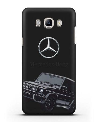 Чехол с картинкой Мерседес Гелендваген силикон черный для Samsung Galaxy J7 2016 [SM-J710F]