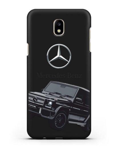 Чехол с картинкой Мерседес Гелендваген силикон черный для Samsung Galaxy J7 2017 [SM-J720F]