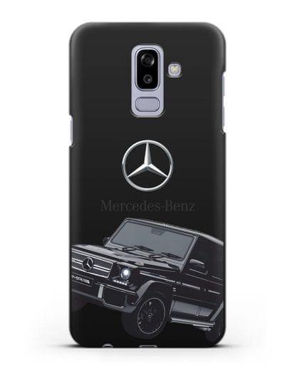 Чехол с картинкой Мерседес Гелендваген силикон черный для Samsung Galaxy J8 2018 [SM-J810F]